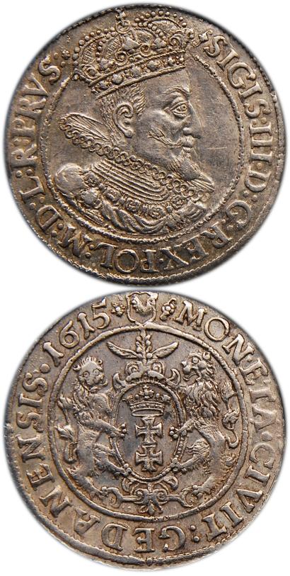 Ort gdański 1615