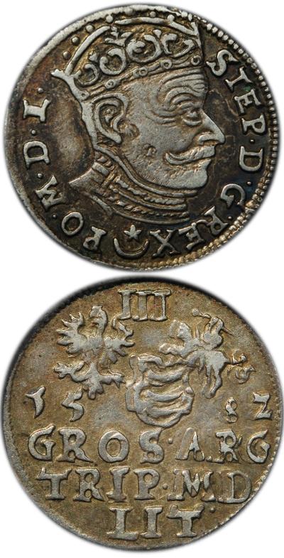 Trojak Stefana Batorego 1582